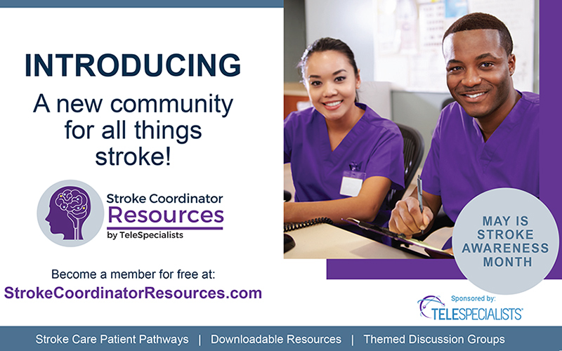TeleSpecialists Launches Website for Hospital Stroke Coordinators