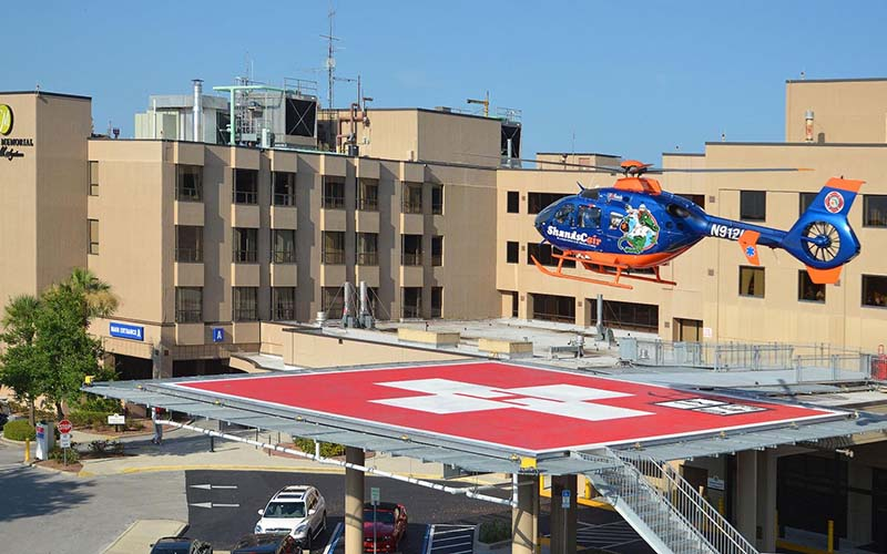 Helicopter Landing Pad at Hospital