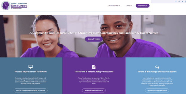 stroke coordinator resources website home page