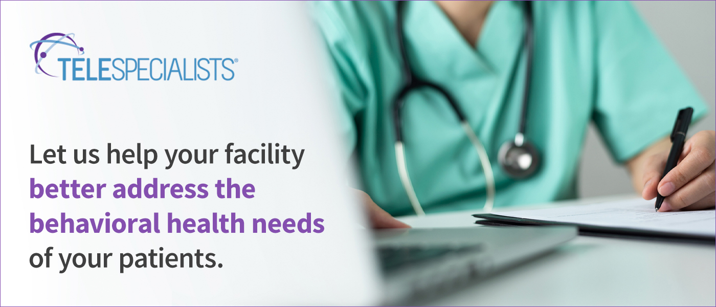 Let us help your facility better address the behavioral health needs of your patients
